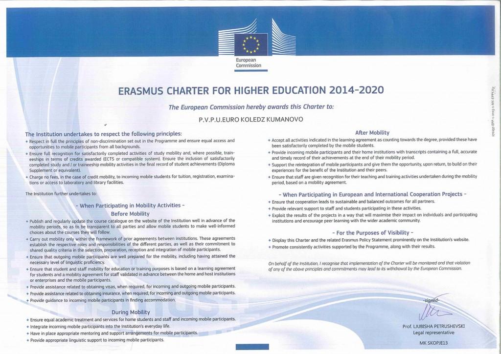Erasmus Charter for higher education 2014-2020-1