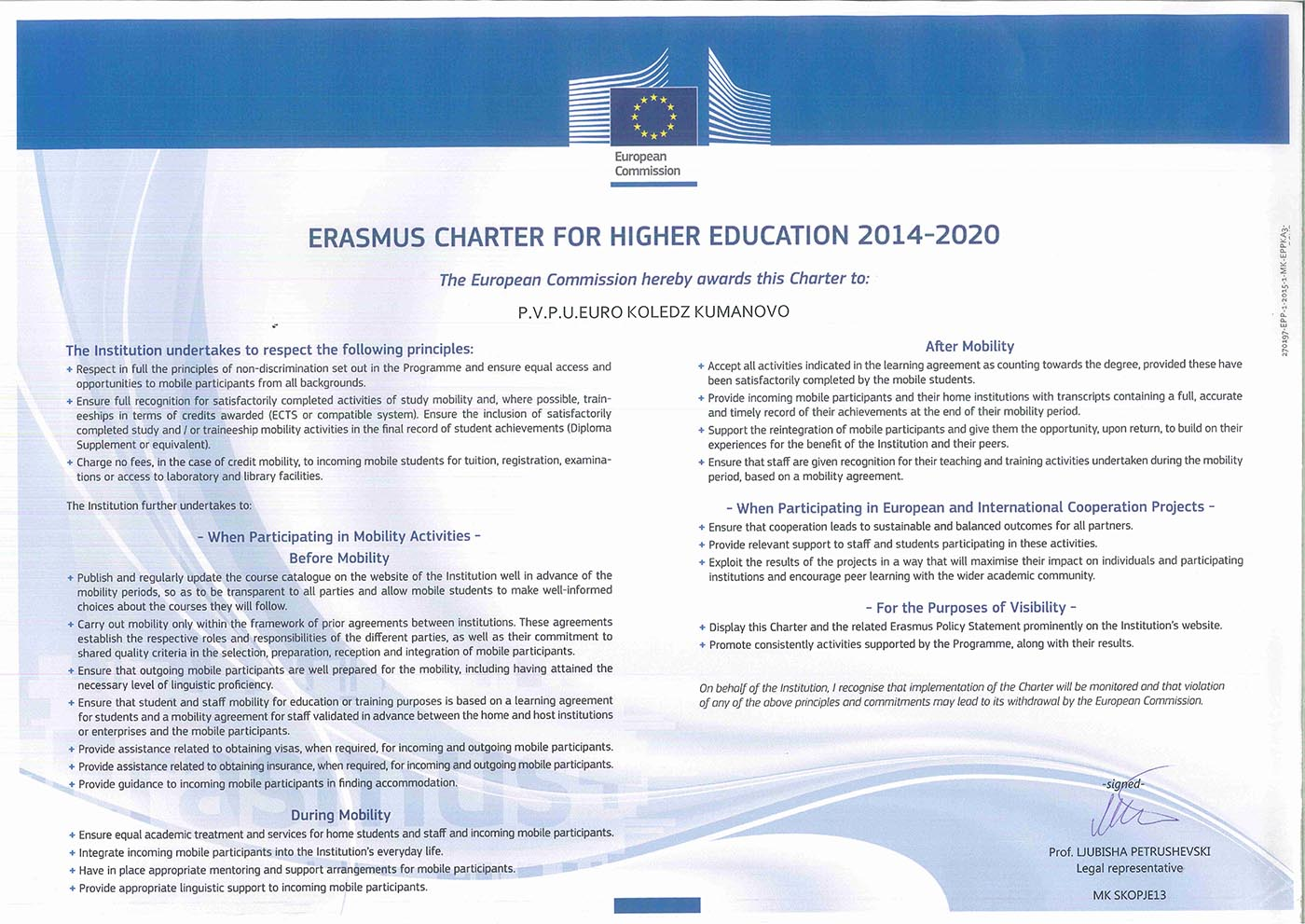 Erasmus Charter for higher education 2014-2020-1